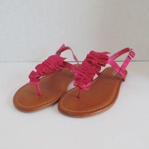 Arizona Geneva Pink/Brown Sandals Size 6.5, 10